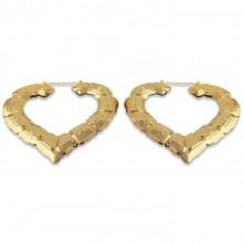 1G0052-1 Серьги Сердце большие, цвет золотой