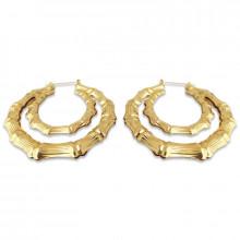1G0052-2 Серьги Кольца большие, цвет золотой