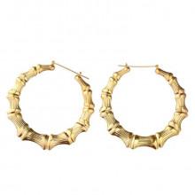 1G0052-3 Серьги Кольцо большие, цвет золотой