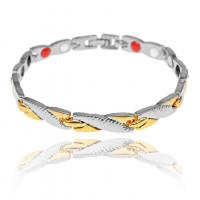 1A0045-1 Магнитный браслет Дракон, цвет золото и серебро