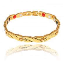 1A0045-2 Магнитный браслет Дракон, цвет золото