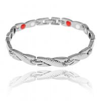 1A0045-4 Магнитный браслет Дракон, цвет серебро