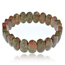 1A0090-08 Браслет из натурального камня Унакит, 14мм