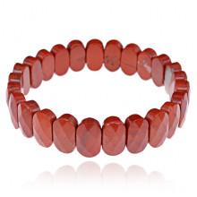 1A0090-18 Браслет из натурального камня Красная яшма, 14мм