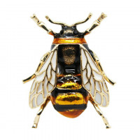 1B0016 Брошь Пчела со стразами