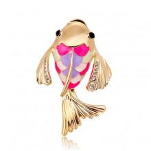 1B0038 Брошь Золотая рыбка