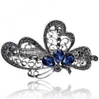 1D0020 Заколка для волос Крыло бабочки, 35х65мм