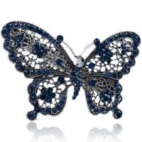 1D0023 Заколка для волос Бабочка, 50х65мм