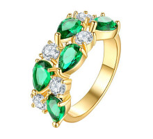 1E0001-3-17 Кольцо с позолотой, размер 17