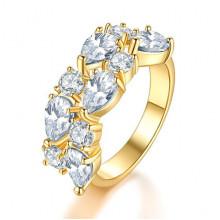 1E0001-5-17 Кольцо с позолотой, размер 17