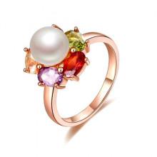 1E0009-1-17 Кольцо с позолотой, размер 17