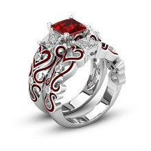 1E0014-1-18 Парные кольца с посеребрением, размер 18