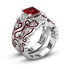 1E0014-1-19 Парные кольца с посеребрением, размер 19