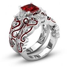 1E0014-1-21 Парные кольца с посеребрением, размер 21