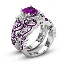1E0014-2-20 Парные кольца с посеребрением, размер 20