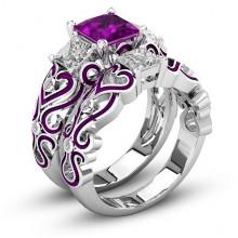 1E0014-2-21 Парные кольца с посеребрением, размер 21