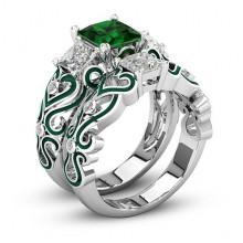 1E0014-3-20 Парные кольца с посеребрением, размер 20