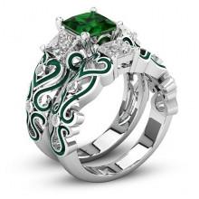 1E0014-3-21 Парные кольца с посеребрением, размер 21