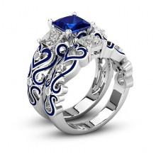 1E0014-4-20 Парные кольца с посеребрением, размер 20