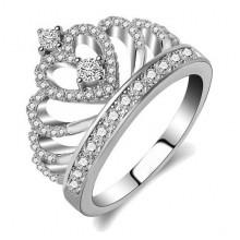 1E0016-2-16 Кольцо Корона с сердце со стразами