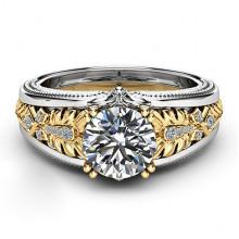 1E0022-1-18 Кольцо Кристалл со стразами, размер 18