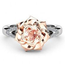 1E0024-1-18 Кольцо Роза со стразами