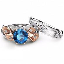 1E0028-1-17 Парные кольца со стразами, размер 17