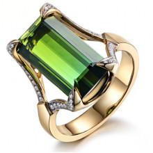 1E0051-1-17 Кольцо с позолотой, размер 17