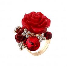 1E0112 Кольцо Роза безразмерное