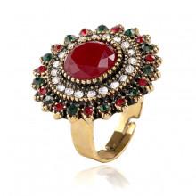 1E0118-4 Кольцо безразмерное, цвет красный