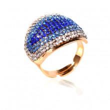 1E0150-3 Кольцо Глаз, цвет синий