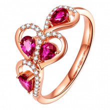 1E0154 Кольцо Сердце, безразмерное