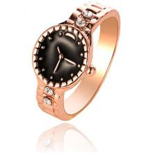 1E0173-1 Кольцо Часы, размер 17, цвет золотой