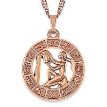 1F0023-03 Кулон с цепочкой Знаки Зодиака - Водолей