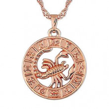 1F0023-10 Кулон с цепочкой Знаки Зодиака - Скорпион