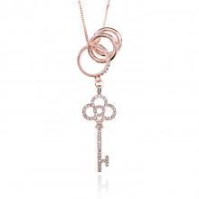 1F0032 Кулон Ключ и кольца на цепочке