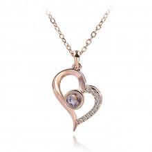 1F0060-1 Кулон Сердце с цепочкой