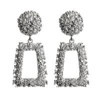 1G0062-2 Серьги Рамка, цвет серебряный, 70х35х10мм