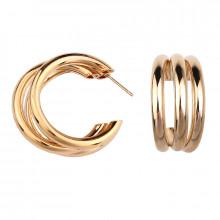 1G0070-1 Серьги Три кольца, цвет золотой, 30х35х10мм