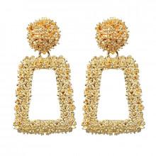 1G0077-1 Серьги Рамка, цвет золотой, 45х25х10мм