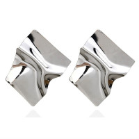 1G0078-2 Серьги Металл, цвет серебряный, 70х60х10мм