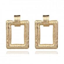 1G0092-1 Серьги Рамка 45х11мм, цвет золотой