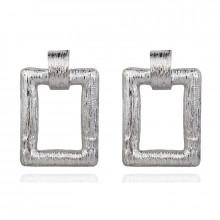 1G0092-2 Серьги Рамка 45х11мм, цвет серебряный
