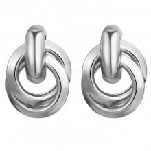 1G0101-2 Серьги Кольца 26х11мм, цвет серебряный