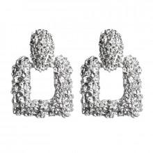 1G0105-2 Серьги Блеск, цвет серебряный, 40х25х10мм