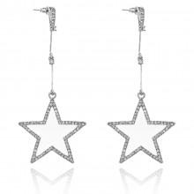 1G0142-2 Серьги Звезда, цвет серебро