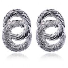 1G0152 Серьги Два кольца