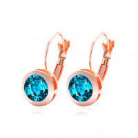 1G0203-1 Серьги Кристалл, цвет голубой