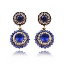 1G0239 Серьги с синими кристаллами