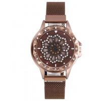 1H0003-1 Часы с вращающимся циферблатом, цвет коричневый